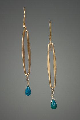 Chrysocholla Earrings