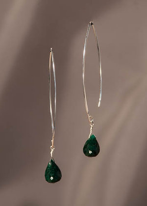 E02664 Emerald Earrings