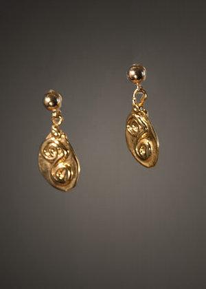 Handcast 18kt Gold Vermeil Earrings