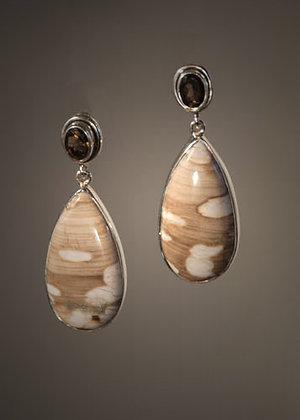 E31695 Peanut Wood Earrings