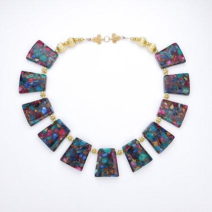 Jasper Mardi Gras Necklace