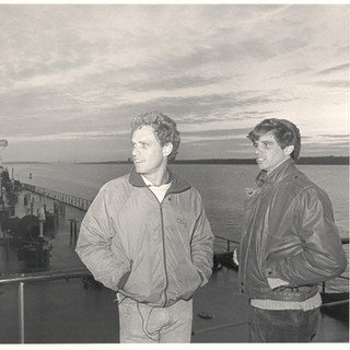 Joe and brother Michael on oil tanker 19