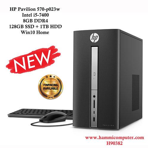 HP Pavilion 570-p023w, Intel Core i5-7400, 8GB DDR4, 128GB SSD + 1TB HDD , Win10