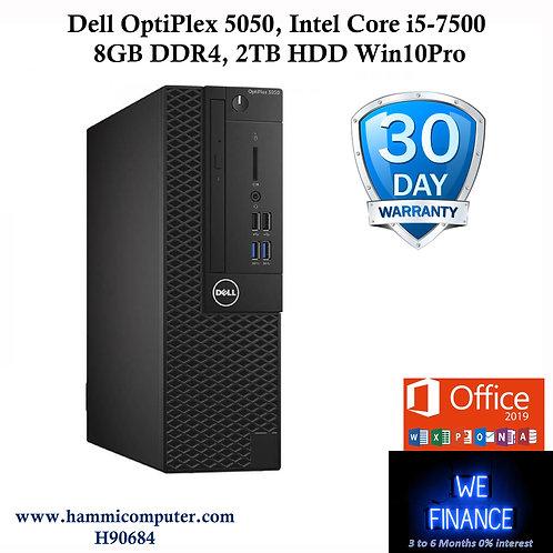 """Dell OptiPlex 5050, Intel Core i5-7500, 8GB DDR4, 2TB HDD, Win10 Pro """"H90684"""""""