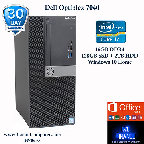 Dell OptiPlex 7040, Intel Core i7-6700, 16GB DDR4, 128GB SSD+2TB HDD