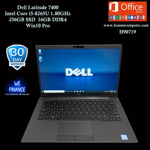 "Dell Latitude 7400, Intel Core i5-8265U, 256GB SSD, 16GB DDR4, Win10 Pro ""H90719"