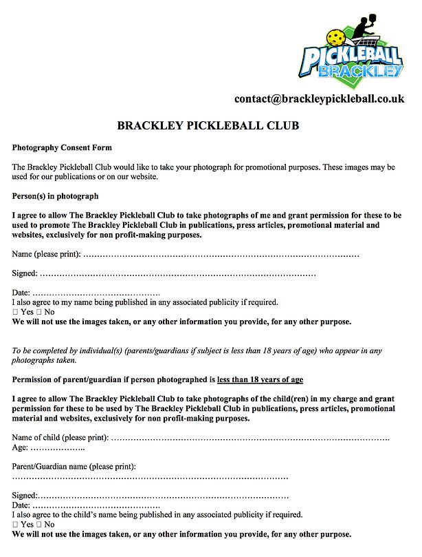 Brackley Pickleball Player Application