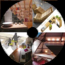 meubles bois, meubles avec matériaux de réupération, cuisine accessible, bibliothèque, estrade de lit
