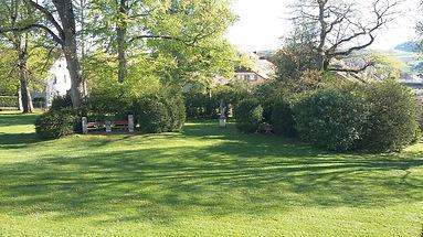 Le parc du château de la Sarraz