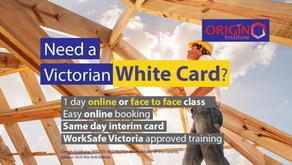 Origin Institute - White Card Training - Dandenong