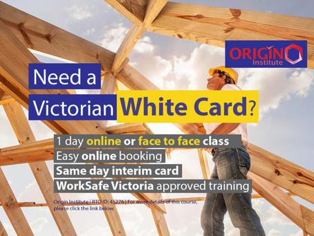 Origin Institute - White Card Training - Melbourne City CBD