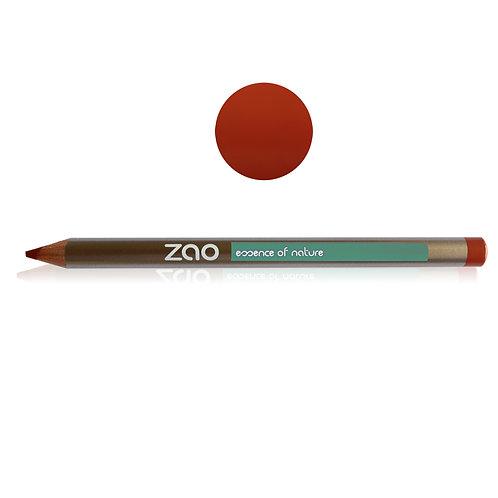 Zao Crayon 608 Multifonction Brun orangé