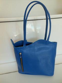 sac vague cuir bleu