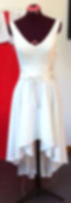 robe de soirée en crêpe de soie