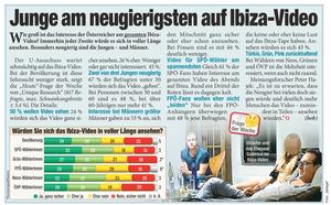 Unique research Umfrage HEUTE Frage der Woche Wuerden Sie sich das Ibiza-Video in voller Laenge ansehen? Print Artikel