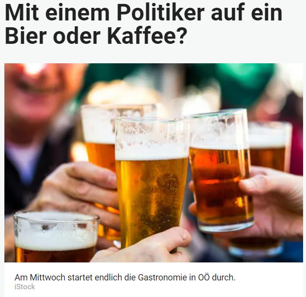 Unique research Umfrage HEUTE Mit welchem/r Parteichef/in würden Sie nach der Gastro-Öffnung am 19. Mai am liebsten in einen Gastgarten auf einen Kaffee oder ein Bier gehen? Online Artikel