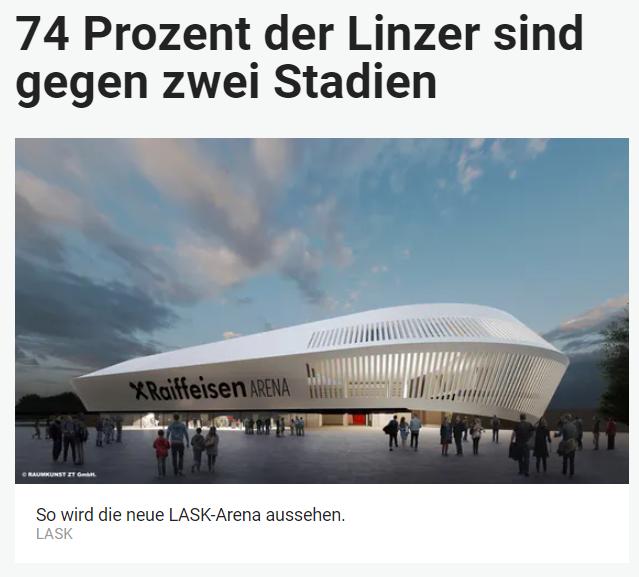 Unique research Umfrage HEUTE Derzeit werden zwei Fußballstadien für Blau-Weiß Linz und den LASK gebaut. Braucht es zwei Stadien oder würde ein Stadion für beiden Vereine zusammen reichen? Online Artikel