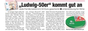Unique research Umfrage HEUTE Ludwig-50er Gastrogutschein Print Artikel