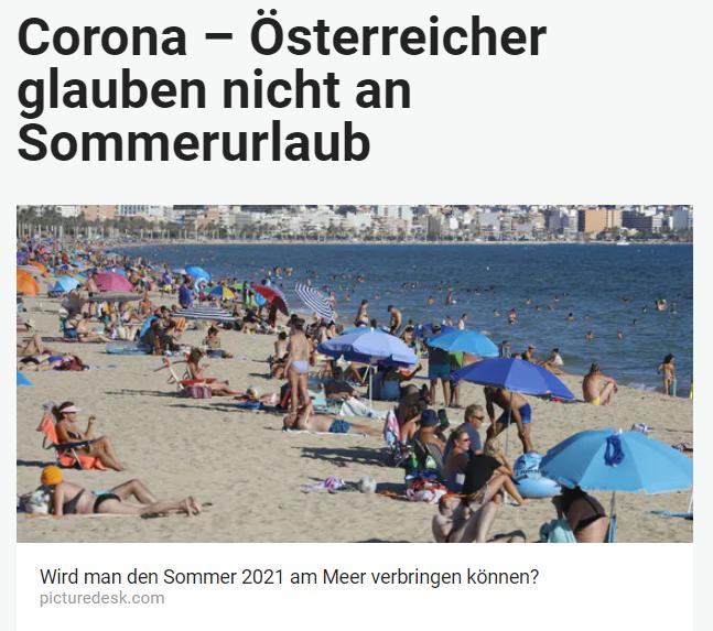 Unique research Umfrage HEUTE Frage der Woche Welche Arten des Sommerurlaubs werden heuer möglich sein? Online Artikel