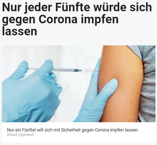 Unique research Umfrage HEUTE Frage der Woche Angenommen, es gebe eine von der EU zugelassene Impfung gegen Corona, würden Sie sich impfen lassen? Online Artikel