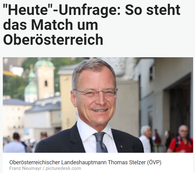 Unique research Umfrage HEUTE Landtagswahl Oberösterreich Sonntagsfrage Online Artikel