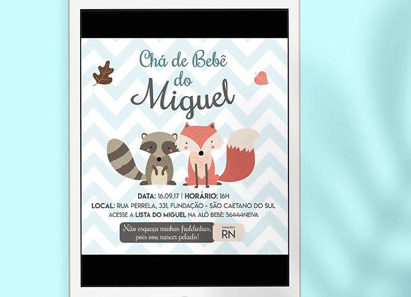 Convite | Chá de Bebê Raposinha
