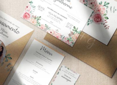 Identidade Visual Casamento | Flores Rosas