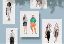 Perfis de Moda | Ilustrações Digitais