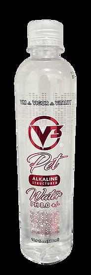 Bottle of V3 Pet Water