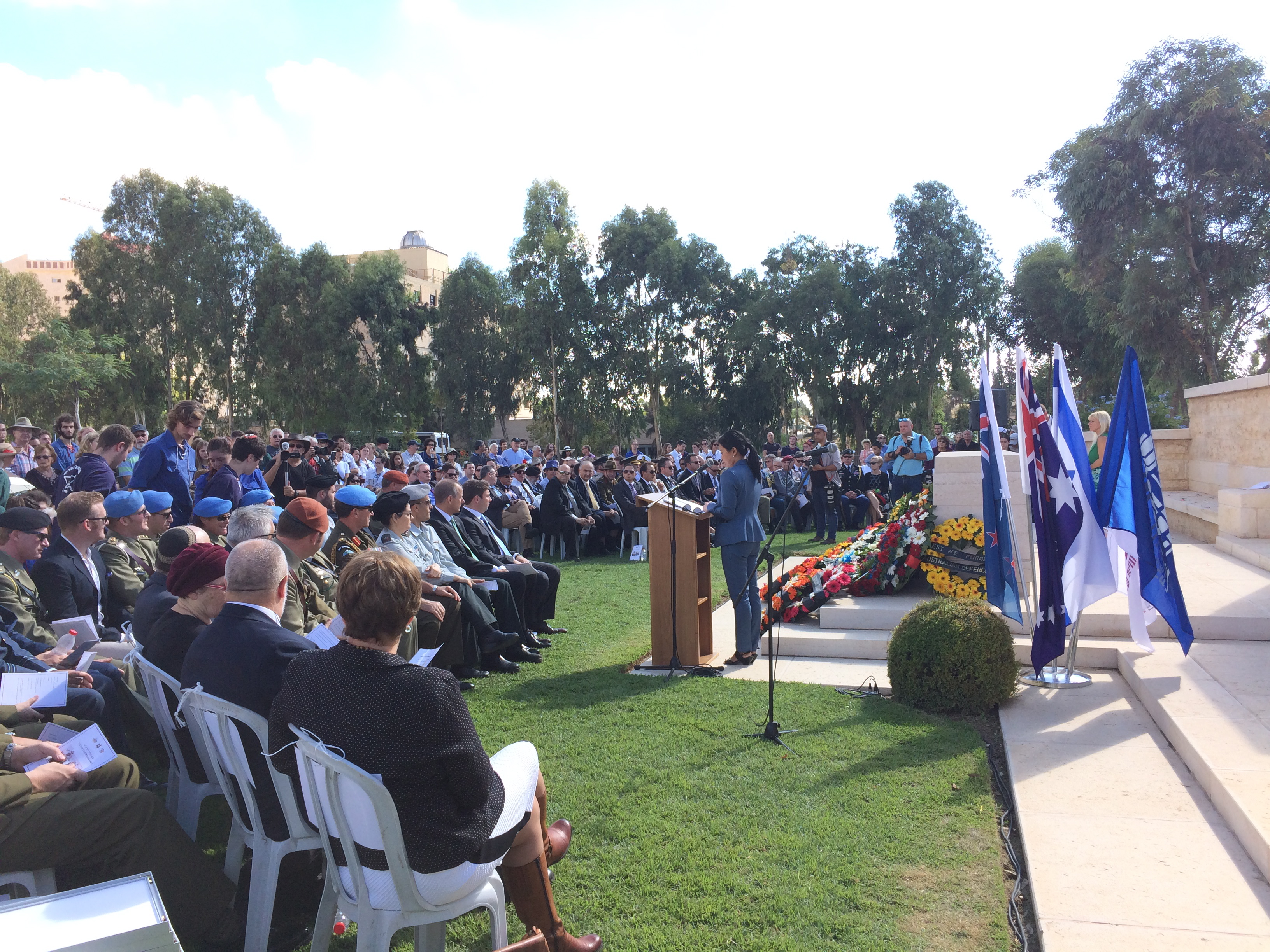 Remembrance Service in Beersheba