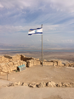 At Masada overlooking the Dead Sea