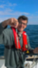 poisson enorme en mer d'iroise , guide de peche brest, peche finistere , brest, finistere, bretagne