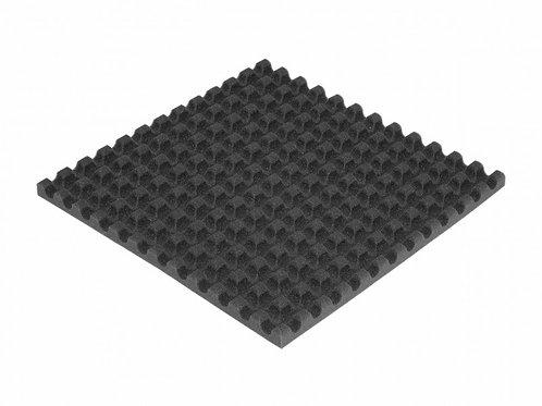 Ячеистый поролон волна Ecosound толщина 30мм, 1мх1м Цвет черный графит
