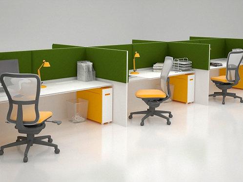 Акустическая ширма для офисных столов Ecosound Quadro Screen green 100х50 см 50м