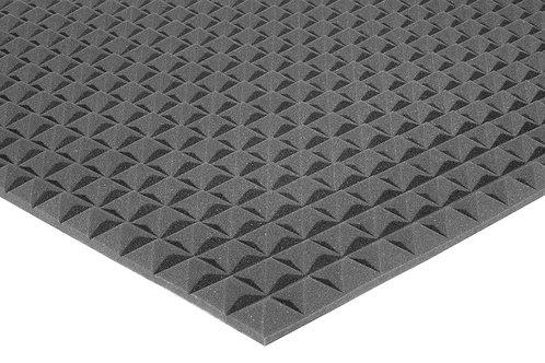 Акустический поролон Ecosound пирамида 15мм 2мх1м Цвет черный графит