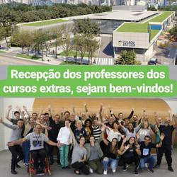 Recepção dos professores dos cursos extras do Colégio São Luis