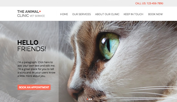Guarda tutti i template template – Clinica per animali