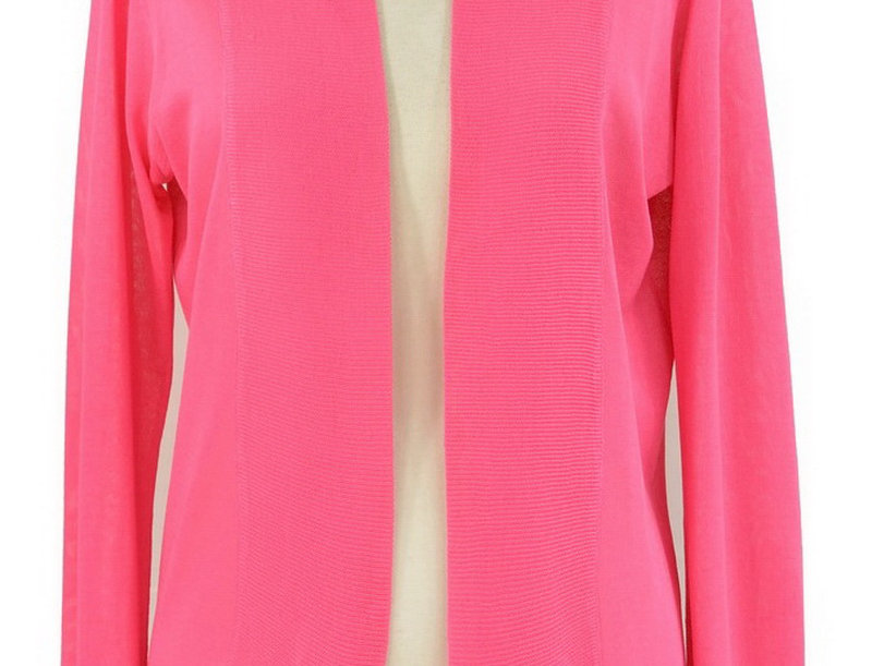 27Q011 Open Front Cardigan (Pink)