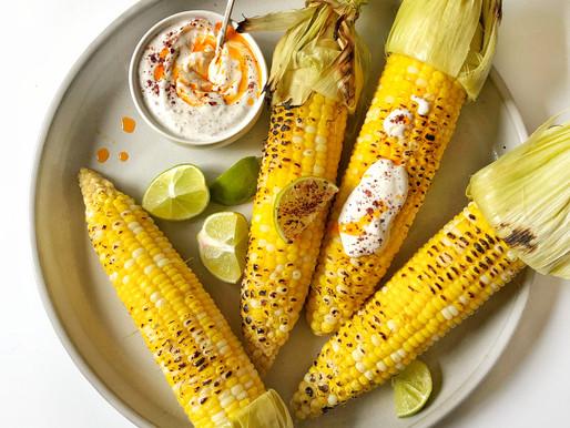 Fire Roasted Corn with Sumac Garlic Aioli