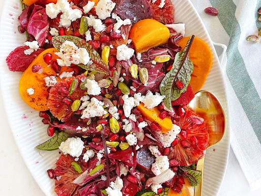 Holiday Party Salad with Persimmons & Pomegranates