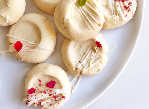 White Chocolate and Rose Ghraybeh