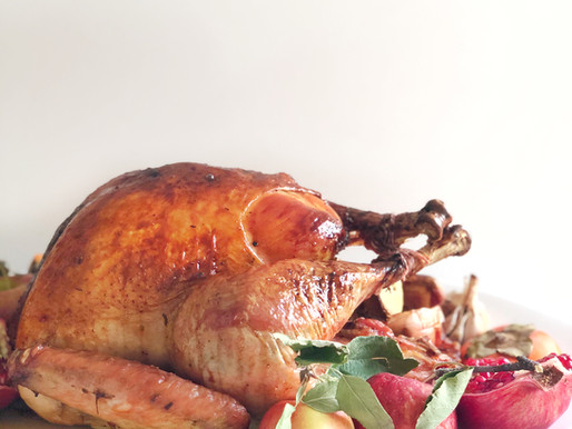 Pomegranate Citrus Glazed Turkey               & all your turkey questions answered