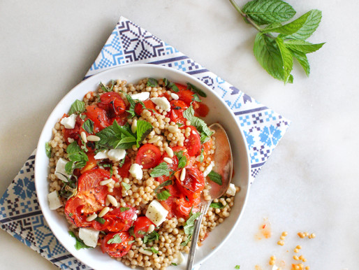 Summer Tomatoes Maftoul Salad