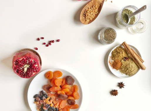 """Wheat Berry Sweet Soup with Spices and Dried fruits """"Burbara"""""""