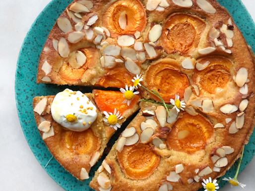 Chamomile, Apricot, Olive Oil Cake and a Slice of Childhood Memories