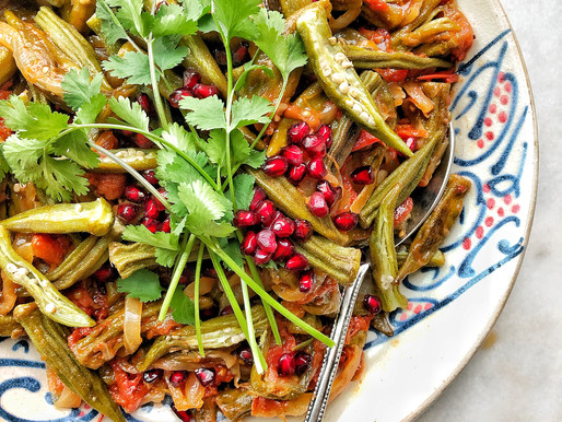 Bamieh bi el Zeit: Okra Stewed in Olive Oil