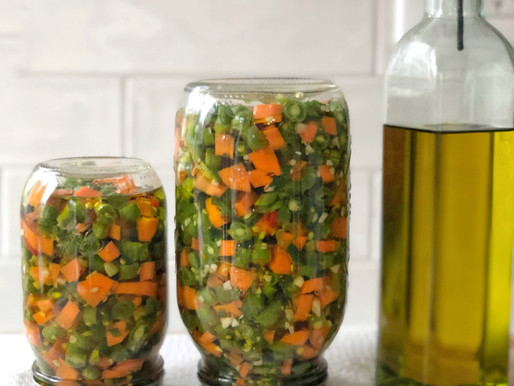 Teta's Carrot and Green Beans Pickles in Olive Oil