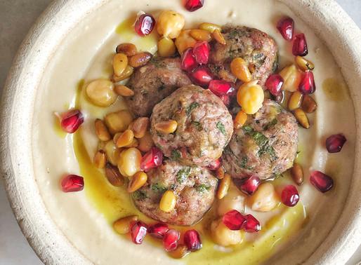 Hummus Bowl with Kiftah Meatballs