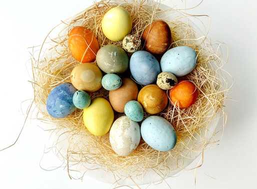 Easter Eggs with Natural Dye                     & A Childhood Game