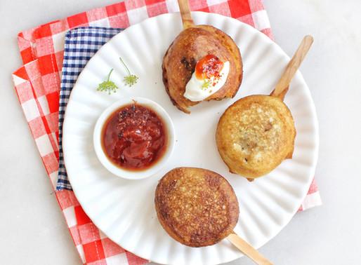 Kiftah Corn Dogs with a Pomegranate Molasses & Sumac Ketchup
